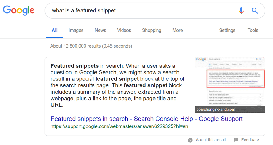 What-is-a-featured-snippet