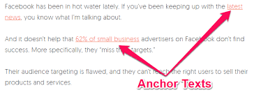 What is an anchor text
